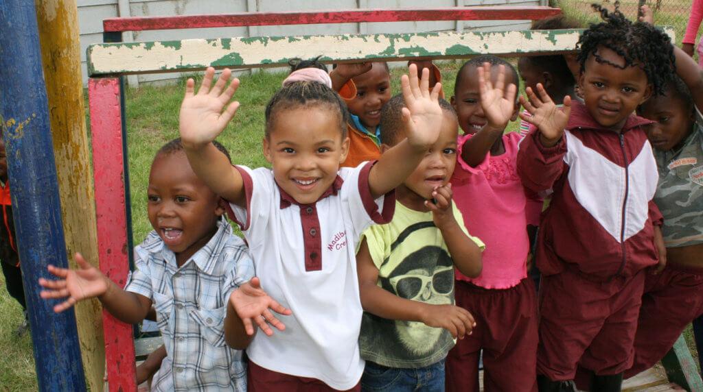 Les enfants à l'école maternelle en Afrique du Sud