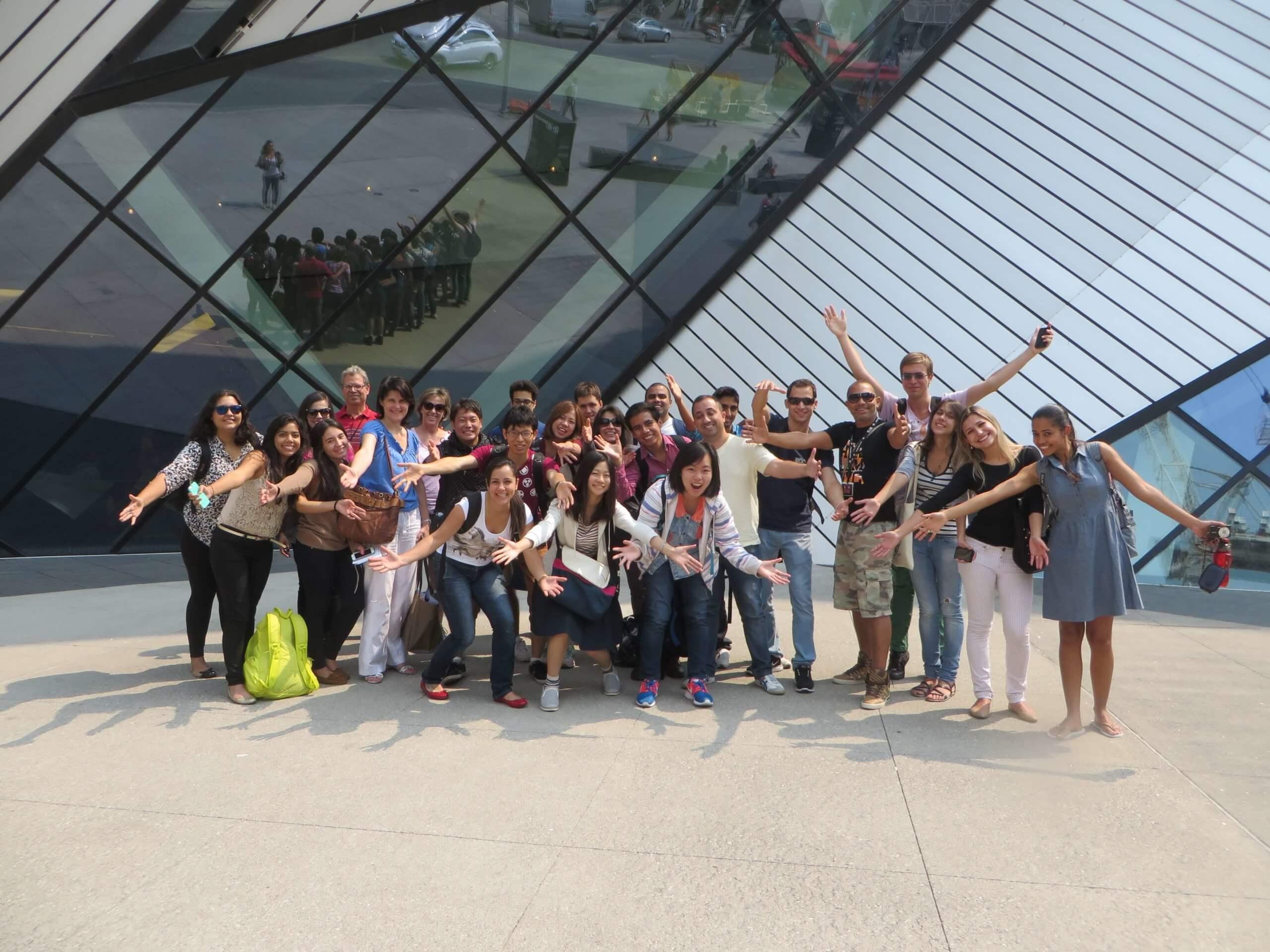 Groupe d'étudiants au Canada