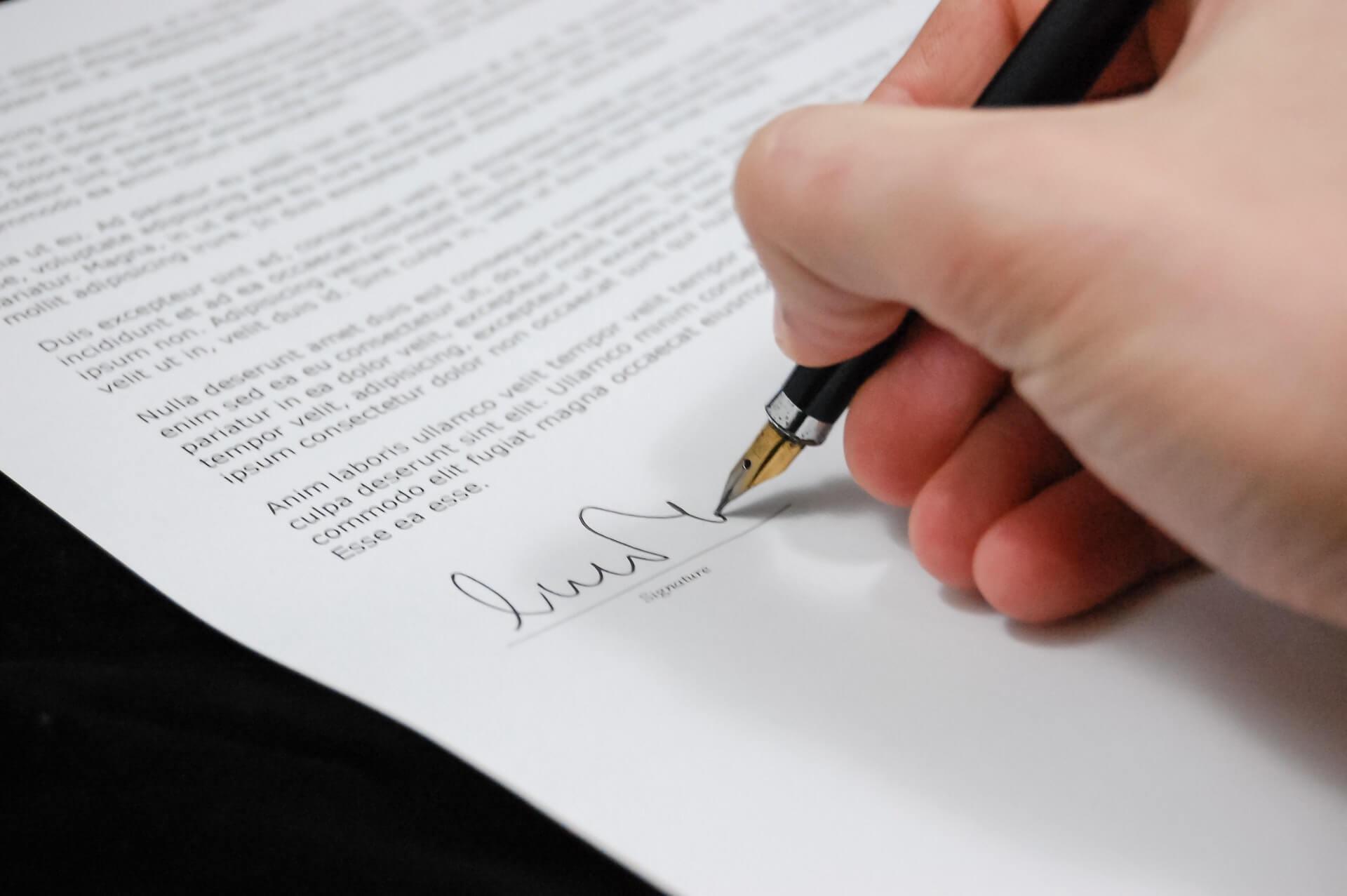 Signer les documents