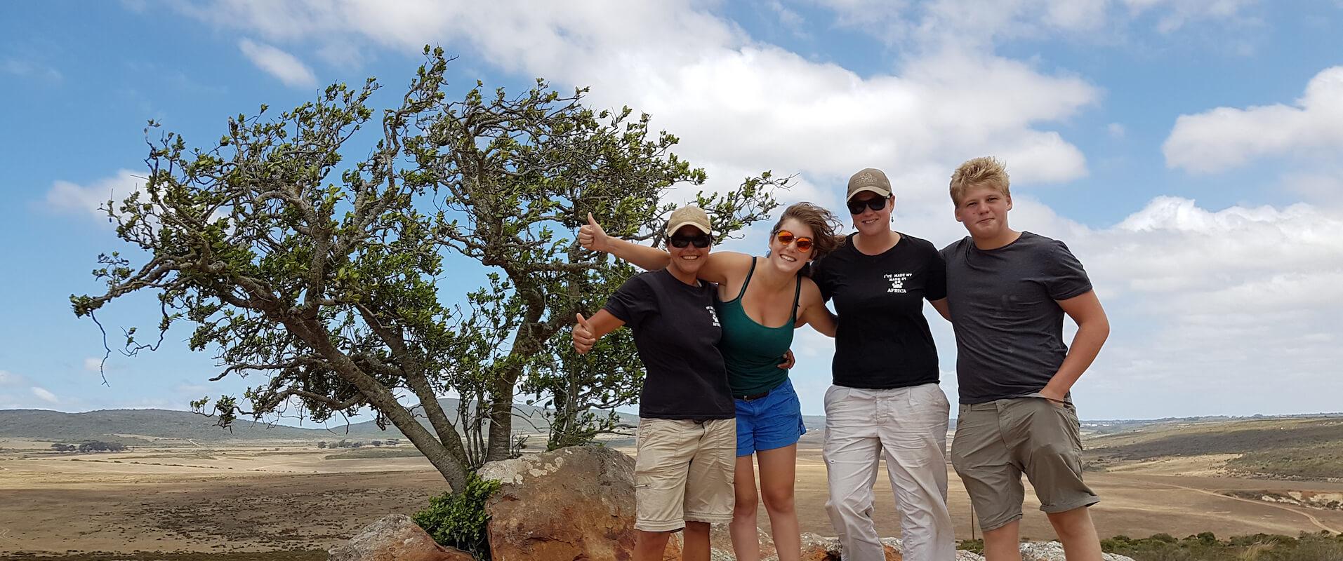 Groupe de volontaires en Afrique du Sud
