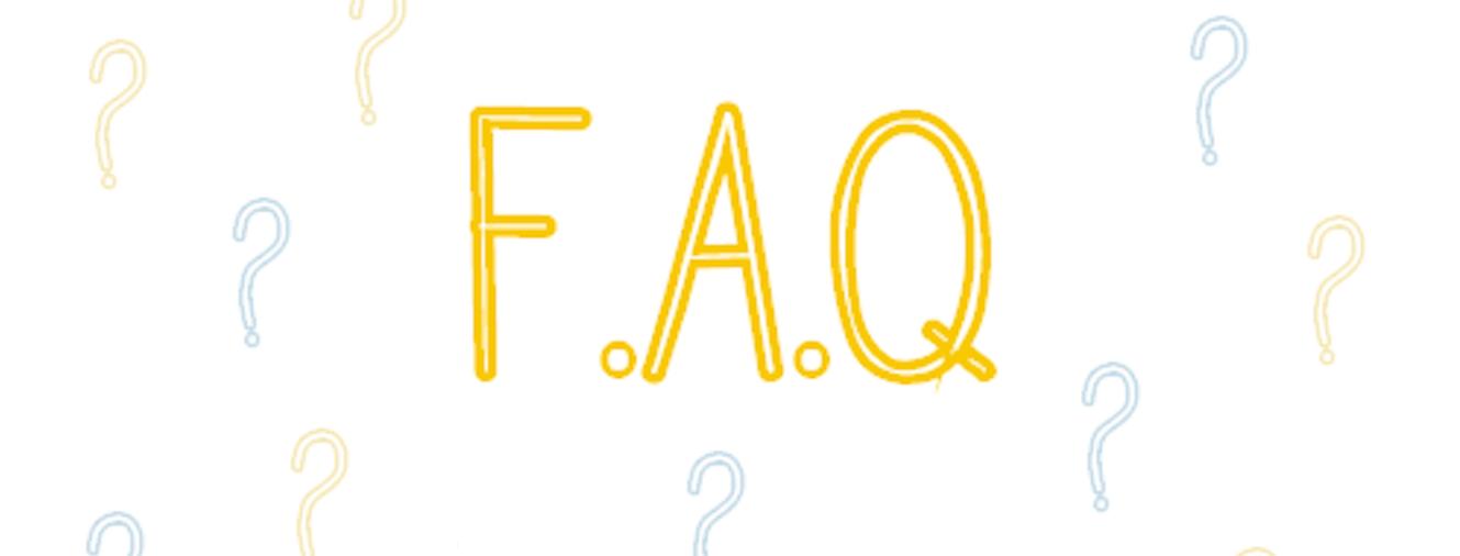 Couverture pour la plage FAQ bleu et jaune